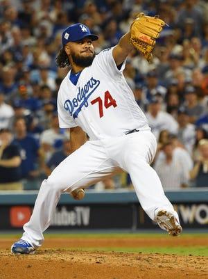 Los Angeles Dodgers relief pitcher Kenley Jansen.
