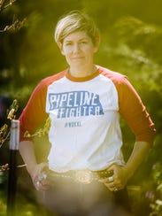President and Founder of Bold Nebraska Jane Kleeb poses