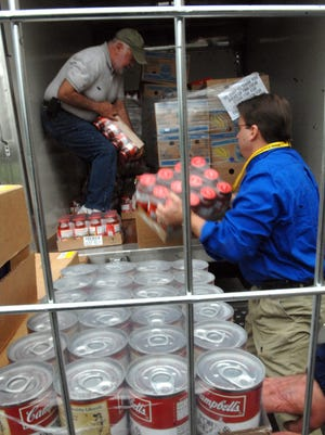 Community Food Pantry's truck is loaded with donations.