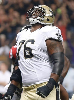 New Orleans Saints offensive tackle Tony Hills.