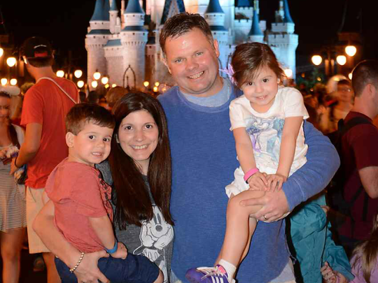 The Casey family on a recent trip to Disney World.