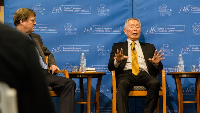 George Takei shares stories of his time as a child in the Japanese-American internment camps with members of the FDR Library.