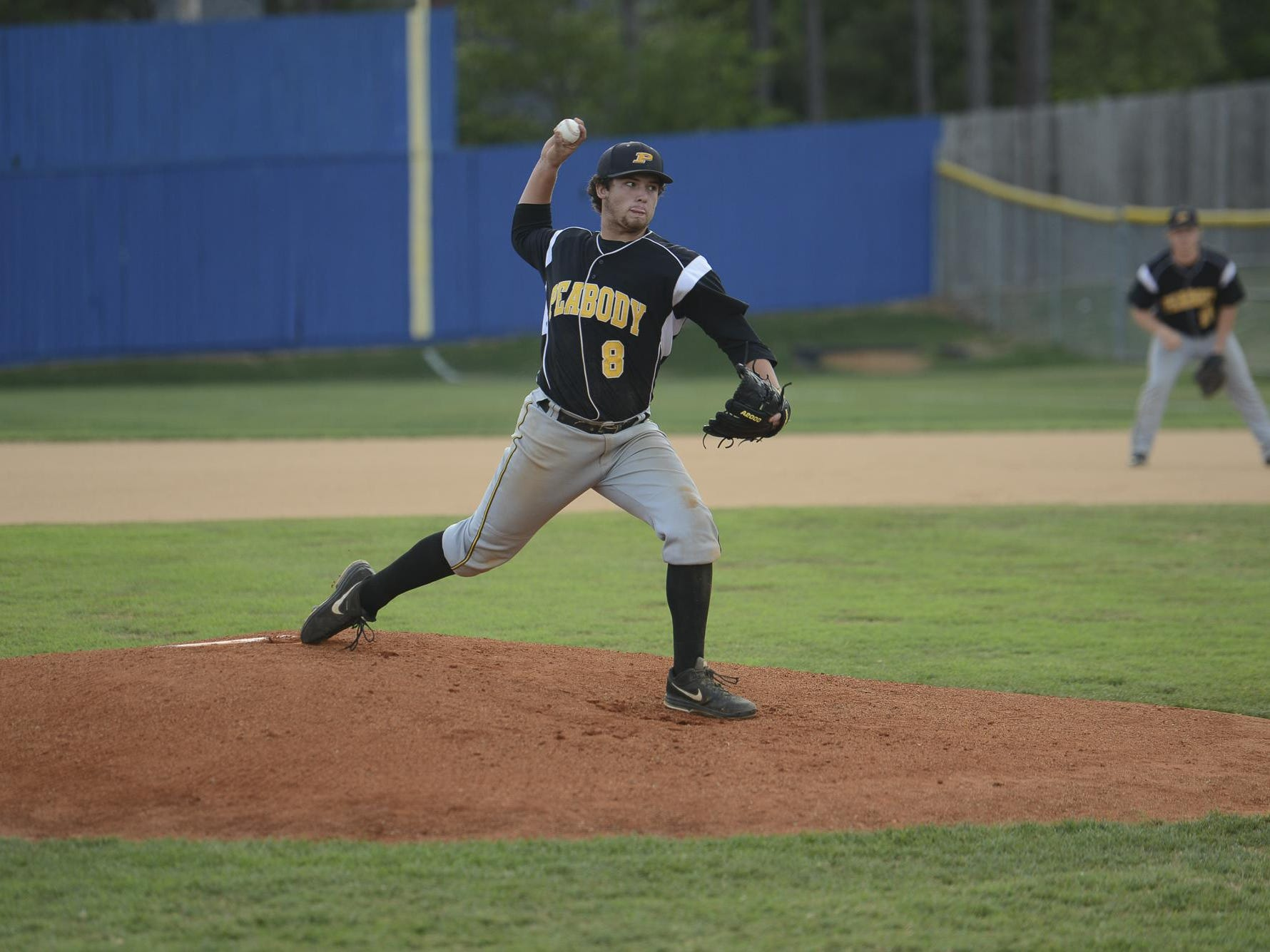 Trenton Peabody's Matthew Pickard led the Golden Tide top a top four finish in Class A baseball.