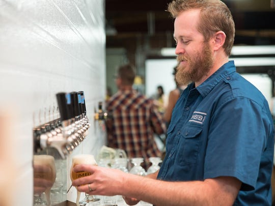 Matt Johnson, owner of IMBĪB Custom Brews, which recently won gold and bronze medals at the 2019 Best of Craft Beer Awards in Bend, Ore., a craft beer destination.