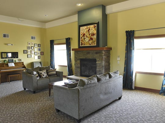 The two resident wings are connected by a large great room Tuesday at Cherrywood Advanced Living.