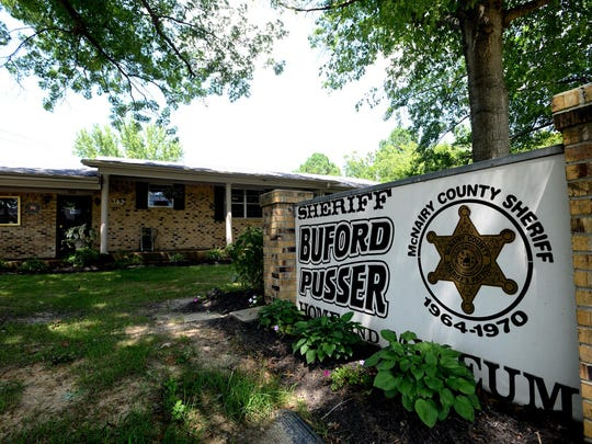 The home of Buford Pusser, former sheriff of McNairy County, is now a museum housing Pusser's belongings.
