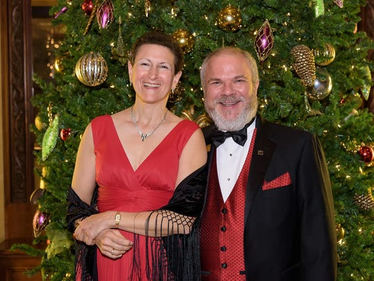 Mark Fields, executive director of The Grand, with Paula Goulden at the 2015 Grand Gala after-party at Wilmington's Hotel du Pont.