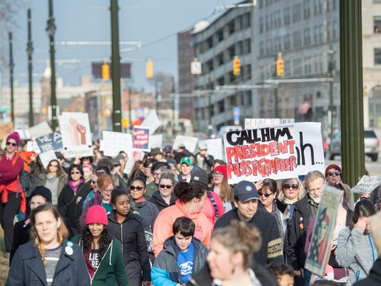 Womens March in Detroit