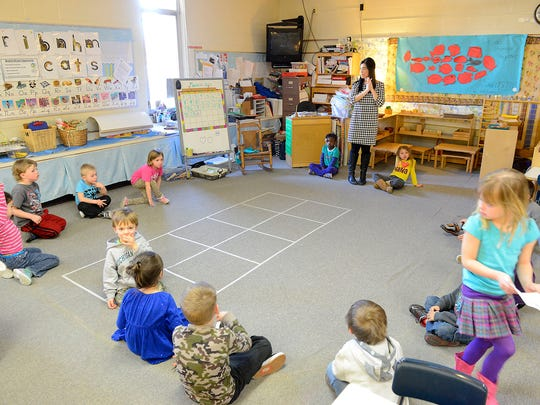 Katie Dama Jaskolski dismisses students from circle