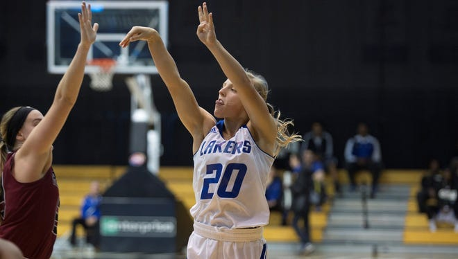 Climax-Scotts High School graduate and Grand Valley State University senior guard Janae Langs.