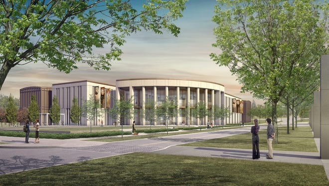 This rendering shows the new Tennessee State Museum that is under construction next to Nashville Farmer's Market.