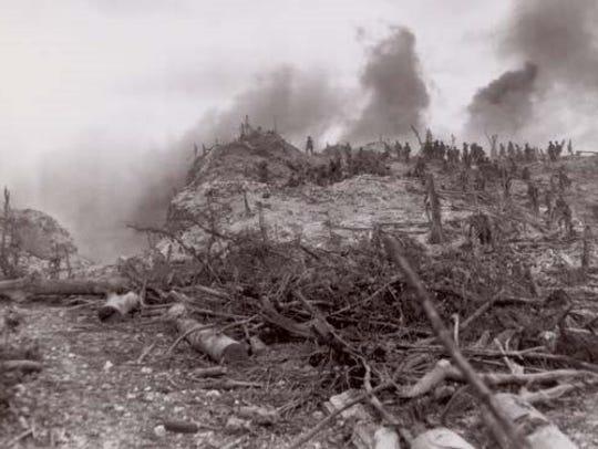 Peleliu Island during World War II.