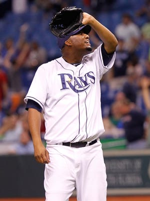 Roberto Hernandez started for the Rays last season.