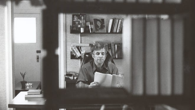 Gene Roddenberry in his office on the Paramount Studios Lot during the original-cast 'Star Trek' movies in the early 1980s.