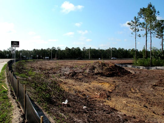 This file photo shows the land where RaceTrac Petroleum Inc. a planning a local gas station and convenience store in East Naples