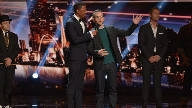 AMERICA'S GOT TALENT -- Episode 1026 -- Pictured: (l-r) Nick Cannon, Gary Vider -- (Photo by: Virginia Sherwood/NBC)