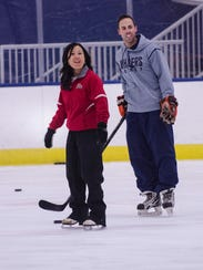 On Aug. 28 at USA Hockey Arena, instructors Kim Muir