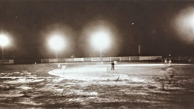 An image some say is of the first night game at Augusta.