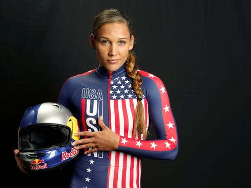 Sep 30, 2013; Park City, UT, USA; Team USA bobsled  competitor Lolo Jones during a portrait session during the Team USA Media Summit at Canyons Grand Summit Hotel. Mandatory Credit: Russ Isabella-USA TODAY Sports ORG XMIT: USATSI-142620 ORIG FILE ID: