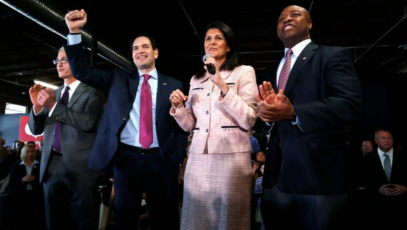 Marco Rubio, Nikki Haley and Tim Scott this week in