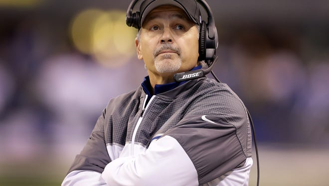 Indianapolis Colts head coach Chuck Pagano in the first half of  their NFL football game Sunday, December 11, 2016, afternoon at Lucas Oil Stadium.