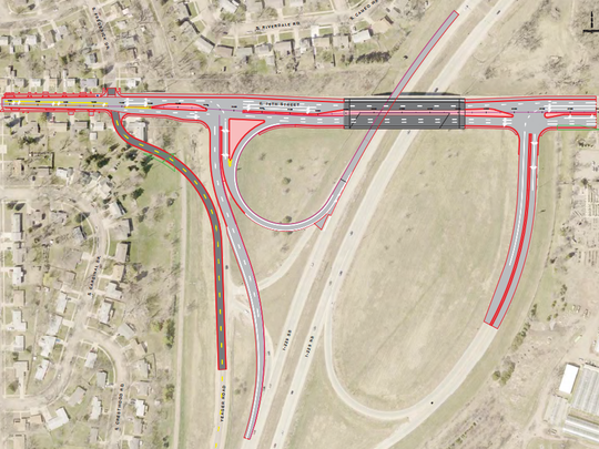 Construction on the 26th Street I-229 interchange will