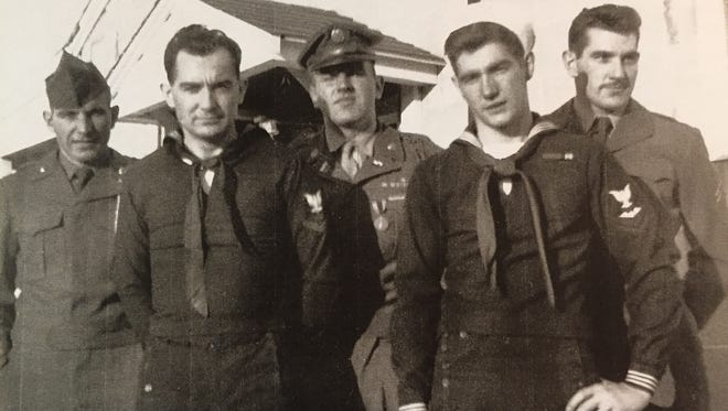 Legacy of Service: Five Shoop brothers served their country in the Army and Navy during the 20th Century, from World War II through the wars in Korea and Vietnam. From left are Warren, Jay, Dale, Don and James.