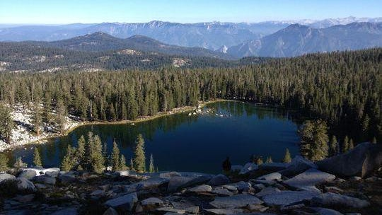 Weaver Lake is an example of one of the trips made after the backpacking class is complete.