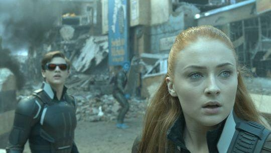 """Cyclops (Tye Sheridan) and Jean (Sophie Turner) are in the midst of an epic battle to save the planet in """"X-Men: Apocalypse."""""""