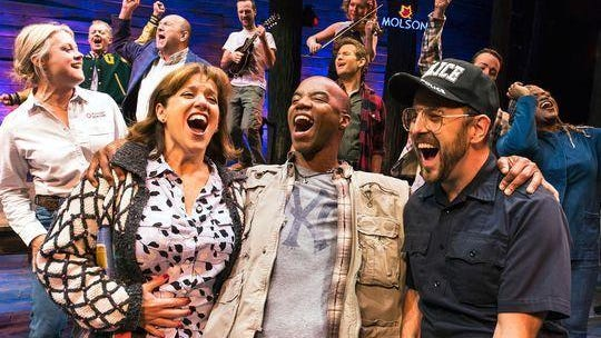"The cast of Tony-nominated ""Come From Away."""