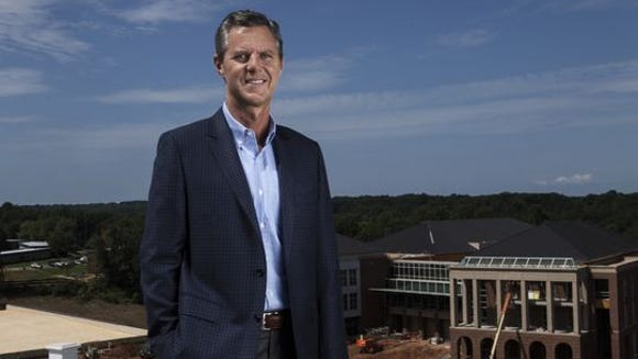 Liberty University chancellor Jerry Falwell Jr. has overseen a massive expansion of the Lynchburg, Va., campus. (Photo: Ryan T. Stone for USA TODAY)