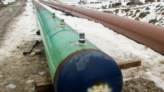 The Constitution Pipeline, pictured in January 2015, would have brought natural gas from the fracked fields in Susquehanna County, Pennsylvania to eastern and southern parts of New York. The company pulled the plug on the project Friday.