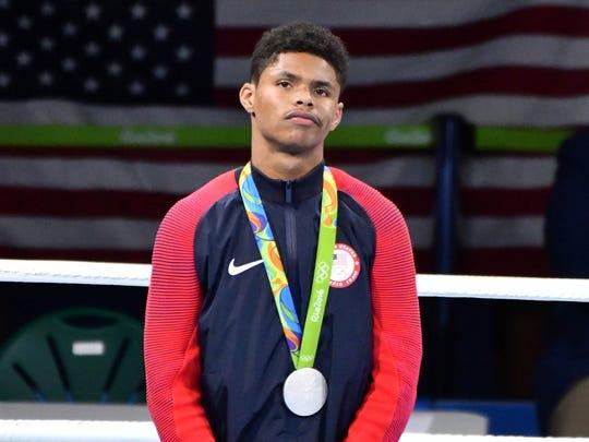 Shakur Stevenson took silver in men's bantamweight boxing.