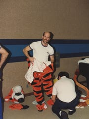 David Vogel dresses up as Tigger at Disneyland. It's a company policy for new hires to spend time as a character at the park.