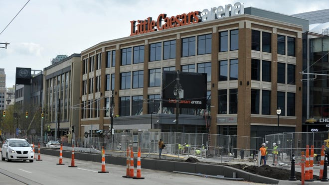 The Little Caesars Arena complex is being touted as the spark for a 50-block development full of new residences, offices, a hotel and stores — creating a dense, vibrant area larger than downtown.