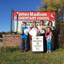 Last year, Madison Elementary School Students collected more than 490 pounds of recycled plastic film products.