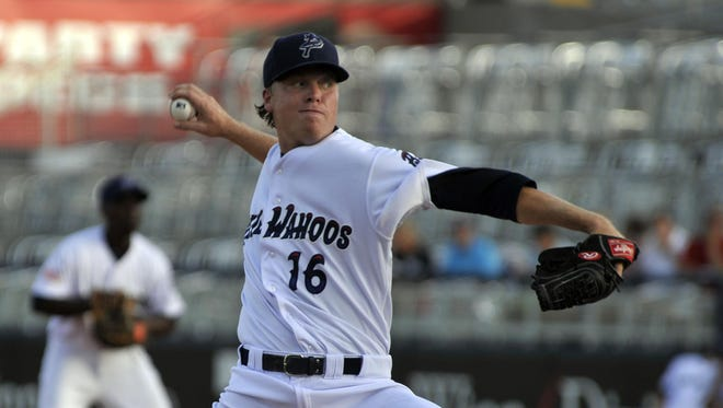The Blue Wahoos Daniel Wright threw seven scoreless innings Thursday, allowing just two hits and led 2-0 before the bullpen imploded behind him and led to a 3-2 deficit before a massive thunderstorm struck the stadium.