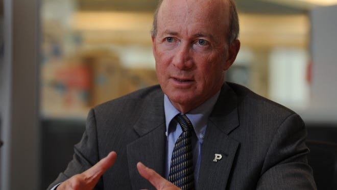 5/6/14 2:07:00 PM -- McLean, VA, U.S.A  --Mitch Daniels, president of Purdue and former governor of Indiana, speaks with the Editorial Board.