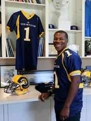 Texas Wesleyan player Mark James is ecstatic to be