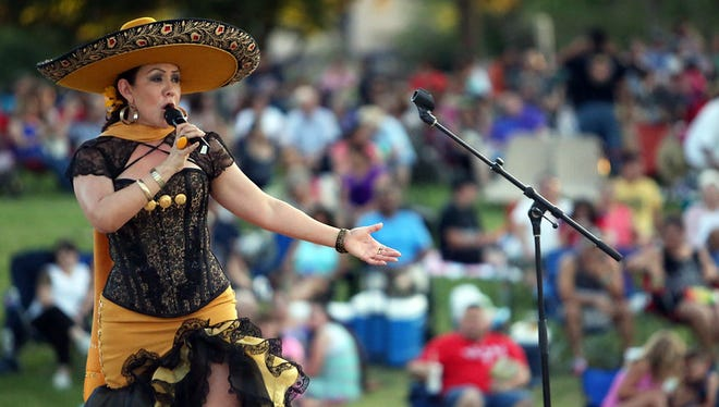 Ranchera singer Zulema Villela performs last summer during Noche Ranchera at Music Under the Stars at the Chamizal National Memorial. The line-up for the annual concert series was announced Wednesday.