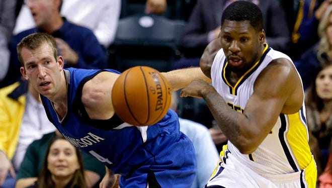 The Pacers waived four players on Saturday, including Adonis Thomas.