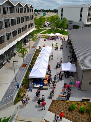 Farmers Market of the Ozarks is held at Farmers Park, a mixed-use development at 2144 E. Republic Road.