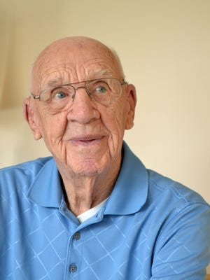 George Leitner, 99, is a World War II veteran who doesn't let age stop him from golfing, baking and going to church.