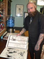 Coffinbirth owner Garrett Adderley drew inspiration from the small towns he's lived in, including Shelton, in his new comic Cadaver Man. Though set in a fictional town, Timber Cove, Cadaver Man evokes locations in Shelton, Hood Canal, Aberdeen, Hoquiam, Westport, Port Townsend and many more.