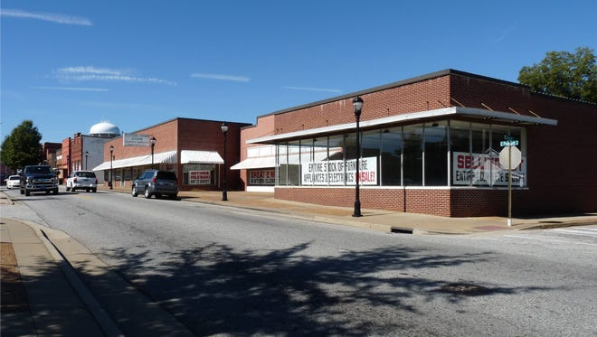 The site of a mixed use development on Poinsett Street in downtown Greer, where Parkside Pediatrics and Grace Church are set to open new offices.