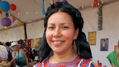 This undated image provided by the International Folk Art Market in Santa Fe, N.M., shows Magdalena Pedro Martinez, a ceramic artist from a long family tradition in Mexico. She will be attending the International Folk Art Market in Santa Fe, N.M., this year scheduled for July 11-13. The market brings together artisans from around the world to showcase their artwork, crafts and products.