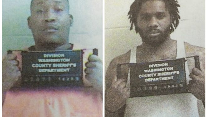 Marquis McKinney (left) and Jeremiah Hair have escaped custody in Washington County. Police warn they are very dangerous.