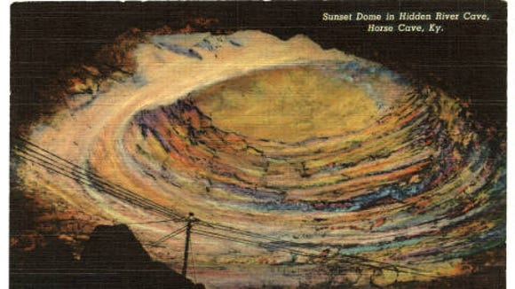 Front of postcard of Sunset Dome from the 1930s.