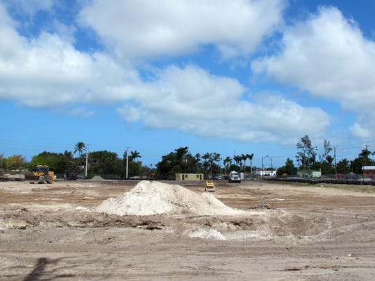 Ground is being cleared next to Gulf Gate Plaza on U.S. 41 East in East Naples for WoodSpring Suites, an extended-stay hotel.