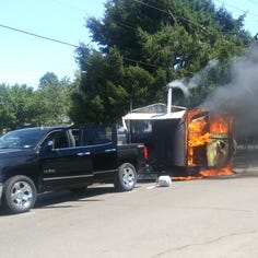 Army vet's food truck, Squatchy's BBQ, engulfed in flames, asks community for support